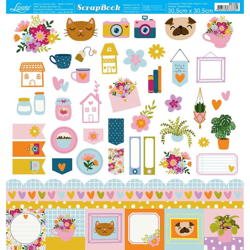 Papel Scrapbook Dias Melhores SD-1201 - Litoarte