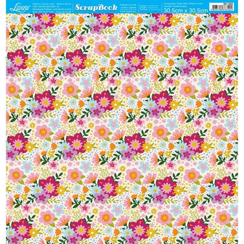 Papel Scrapbook Dias Melhores SD-1203 - Litoarte