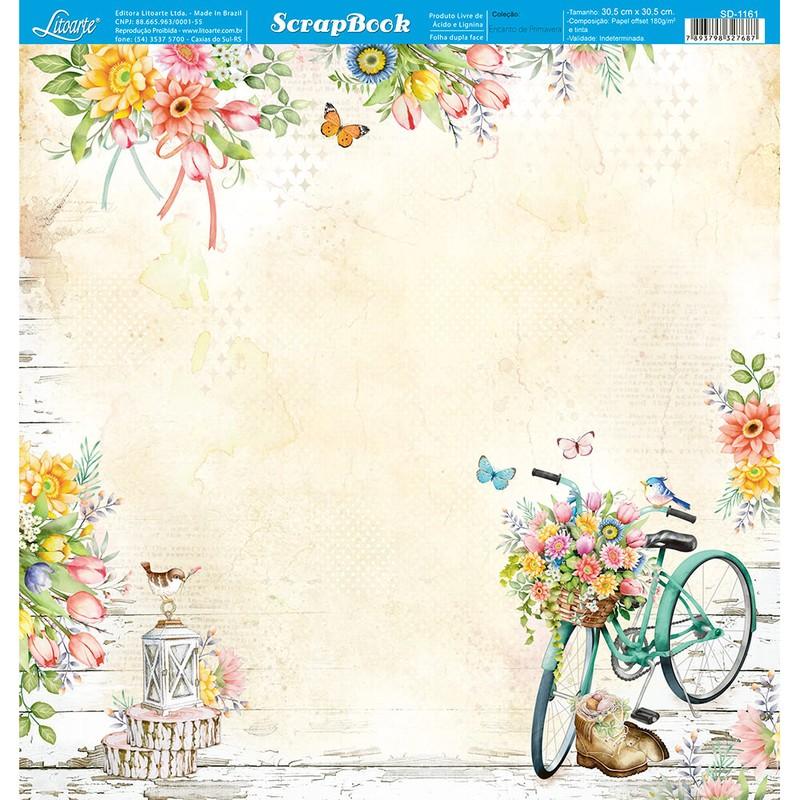Papel Scrapbook Encanto de Primavera SD-1161 - Litoarte