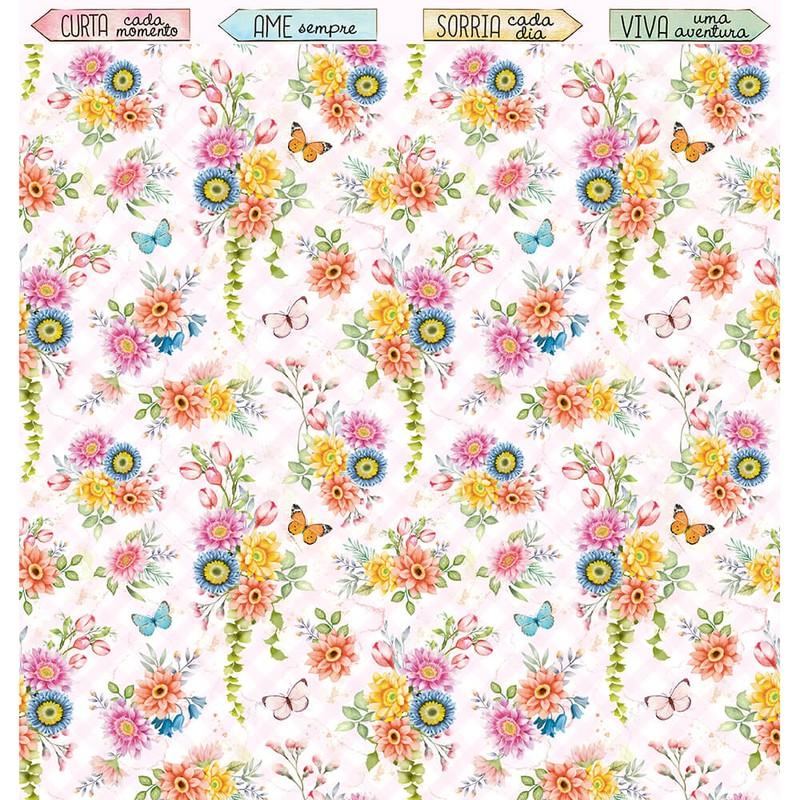 Papel Scrapbook Encanto de Primavera SD-1162 - Litoarte