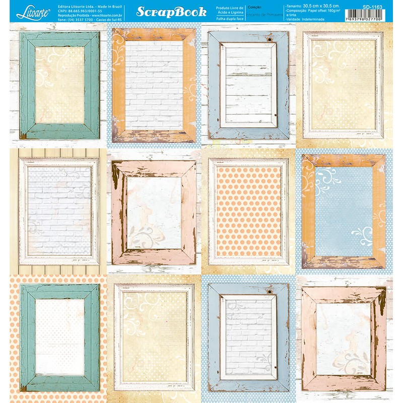 Papel Scrapbook Encanto de Primavera SD-1163 - Litoarte