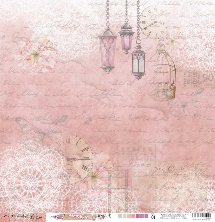 Papel Scrapbook Essence of Life EOL 01 - Carina Sartor