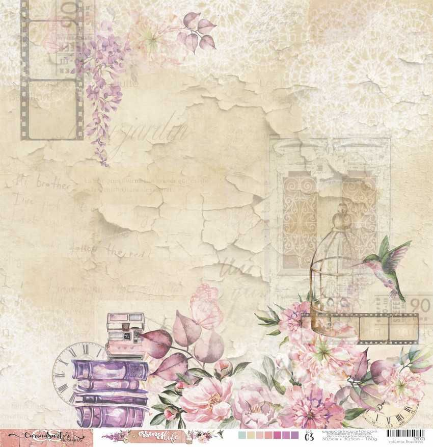 Papel Scrapbook Essence of Life EOL 03 - Carina Sartor