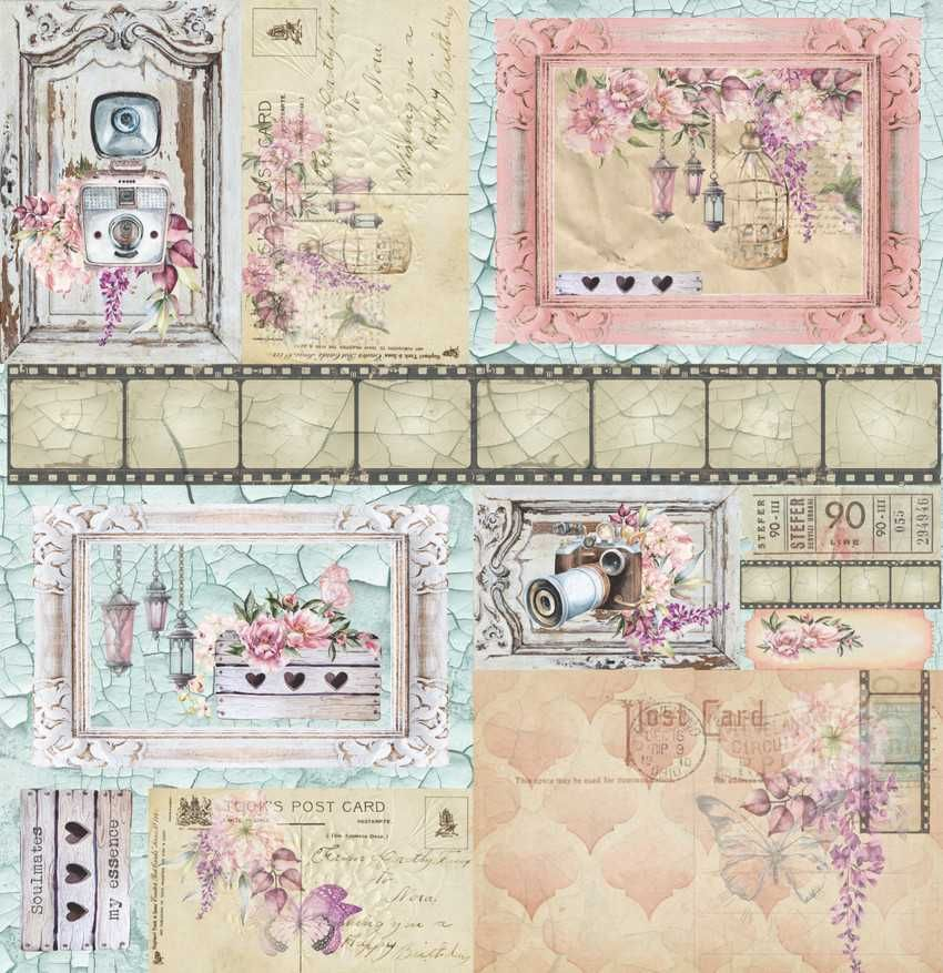 Papel Scrapbook Essence of Life EOL 07 - Carina Sartor