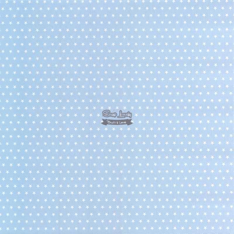 Papel Scrapbook Estrela Básica Azul - Metallik