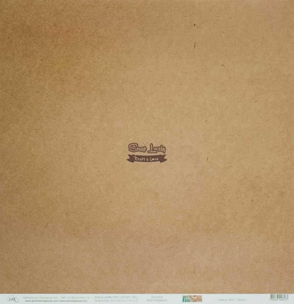 Papel Scrapbook Família Craft - OK Scrapbook