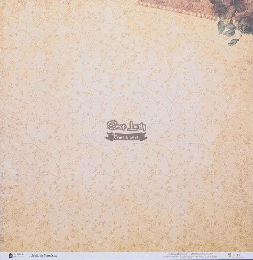 Papel Scrapbook Família Para Sempre Coleção de Memórias - JuJu Scrapbook