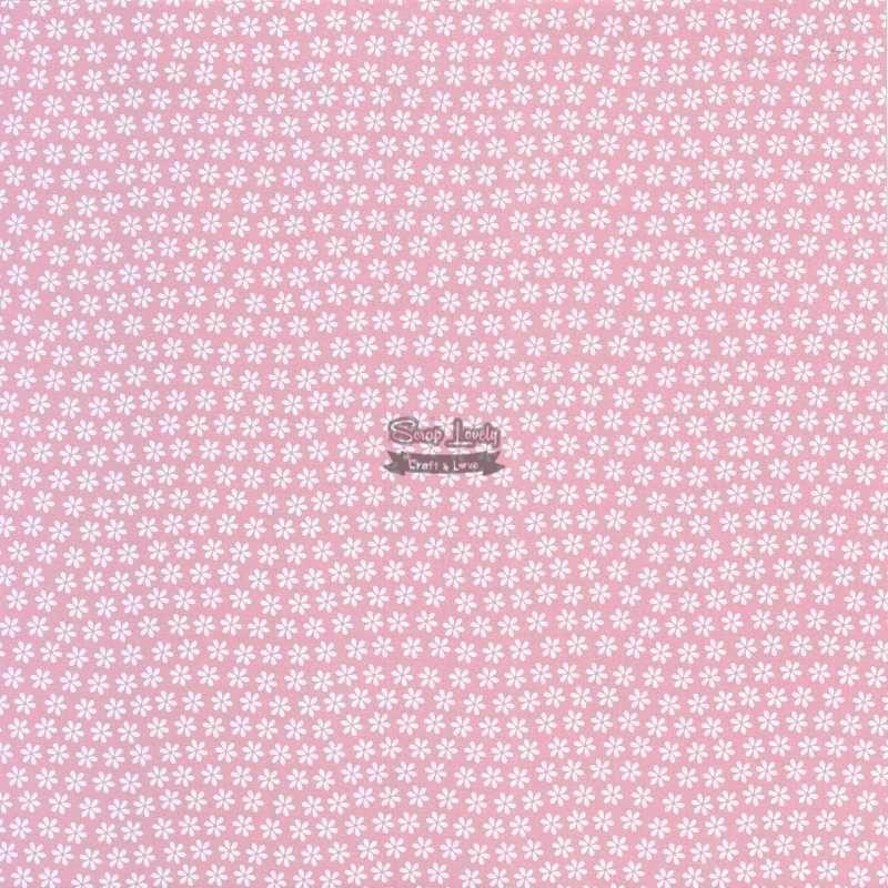 Papel Scrapbook Flor Básica 2 Rosa - Metallik