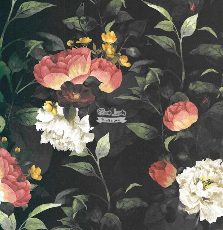 Papel Scrapbook Floral 3 - Arte Fácil