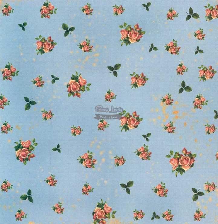 Papel Scrapbook Flores Miudas 1 - Arte Fácil