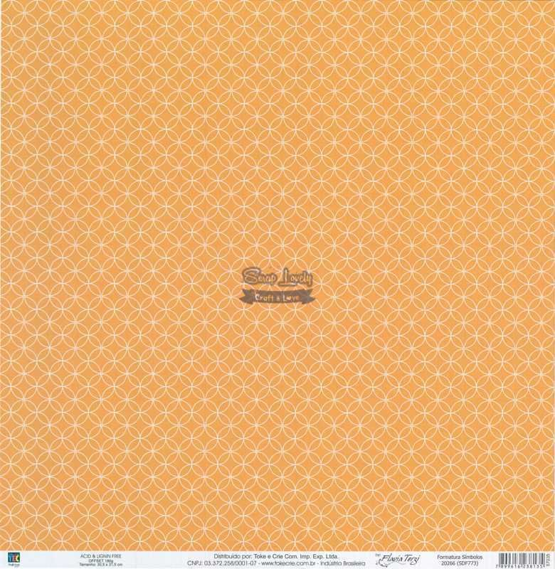 Papel Scrapbook Formatura Símbolos - Toke e Crie