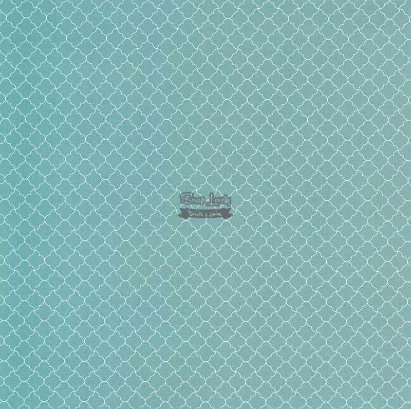 Papel Scrapbook Geométrico 02 Azul Quartz - Metallik