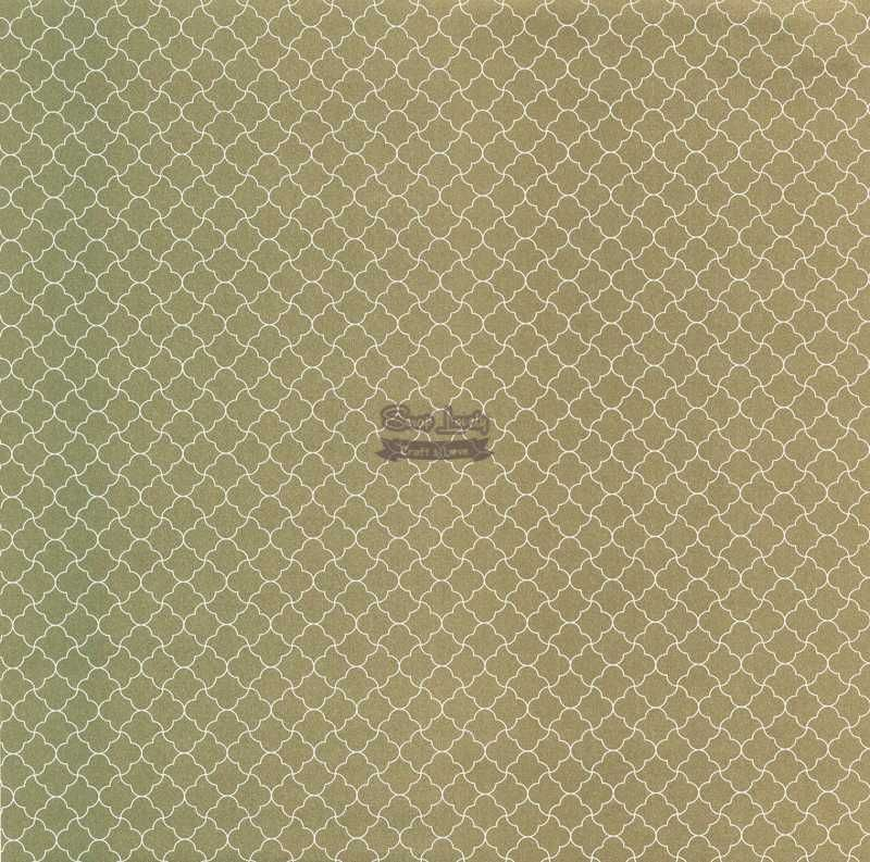 Papel Scrapbook Geométrico 02 Ouro - Metallik