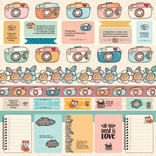 Papel Scrapbook Good Memories Camera Picture PP219 - Scrap Goodies