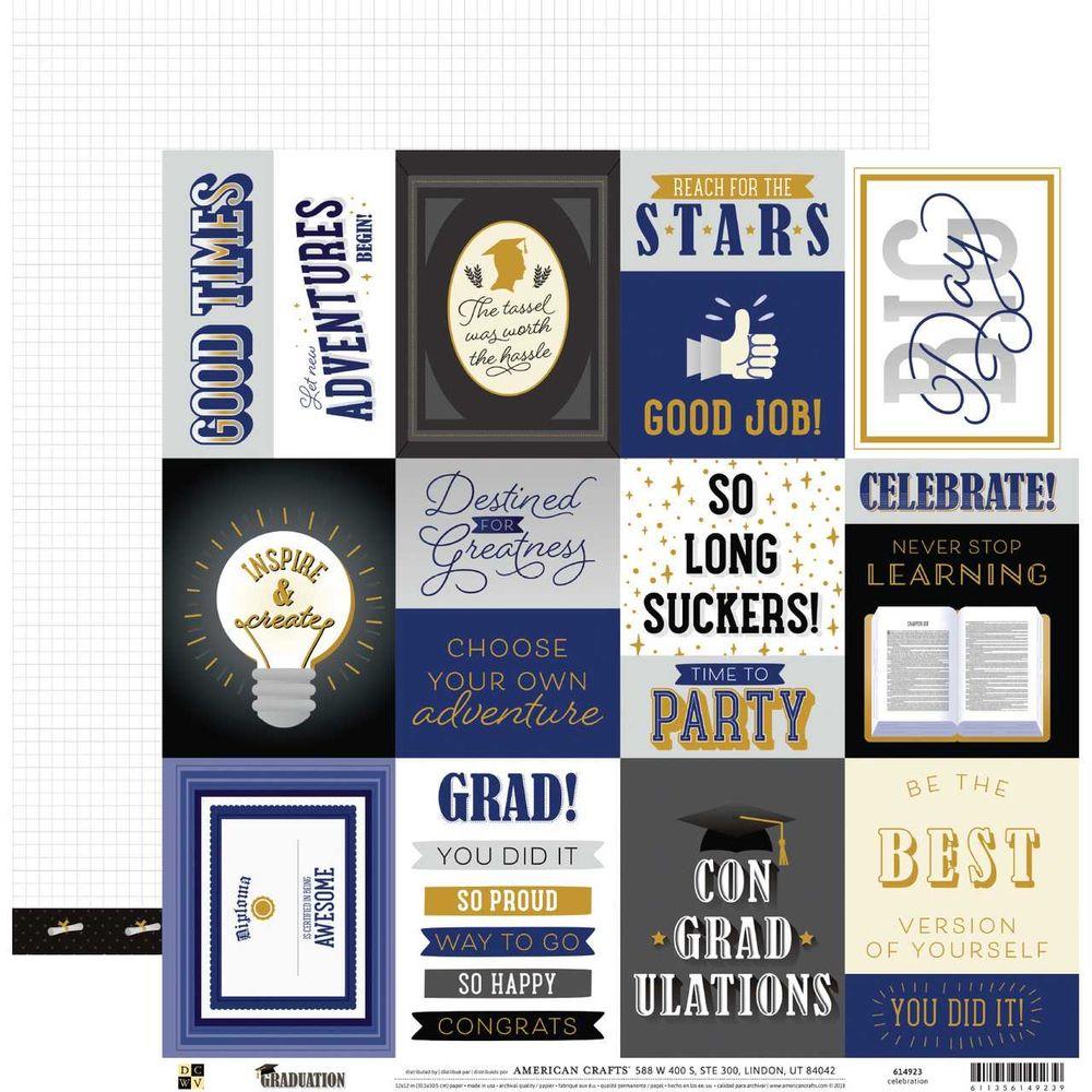 Papel Scrapbook Graduation Celebration - DCWV