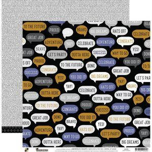 Papel Scrapbook Graduation Speech Bubbles - DCWV