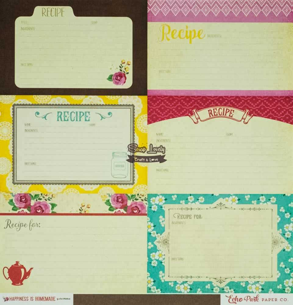 Papel Scrapbook Happiness Is Homemade Border Strips - Echo Park