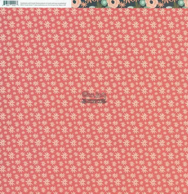 Papel Scrapbook Hello Lovely So Very Lovely - Simple Stories