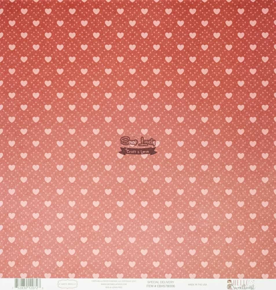 Papel Scrapbook Hello Sweet Heart Special Delivery - Carta Bella