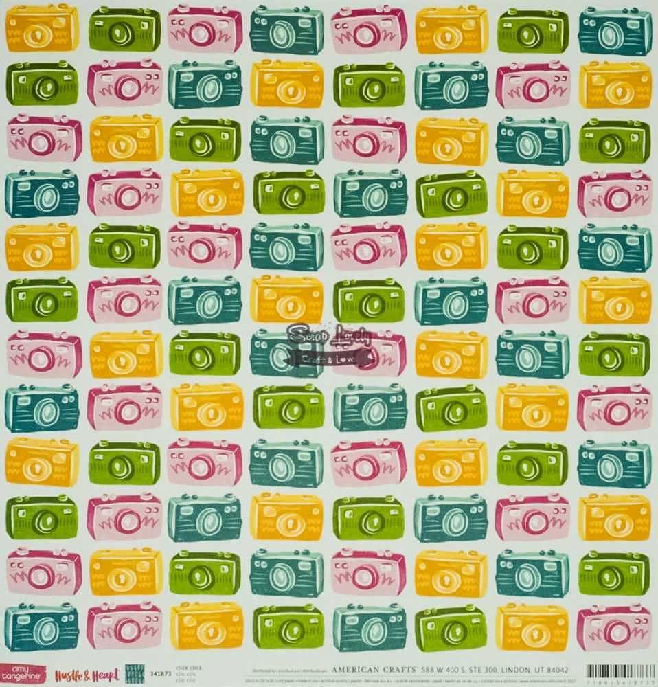 Papel Scrapbook Hustle & Heart Click Click - American Crafts
