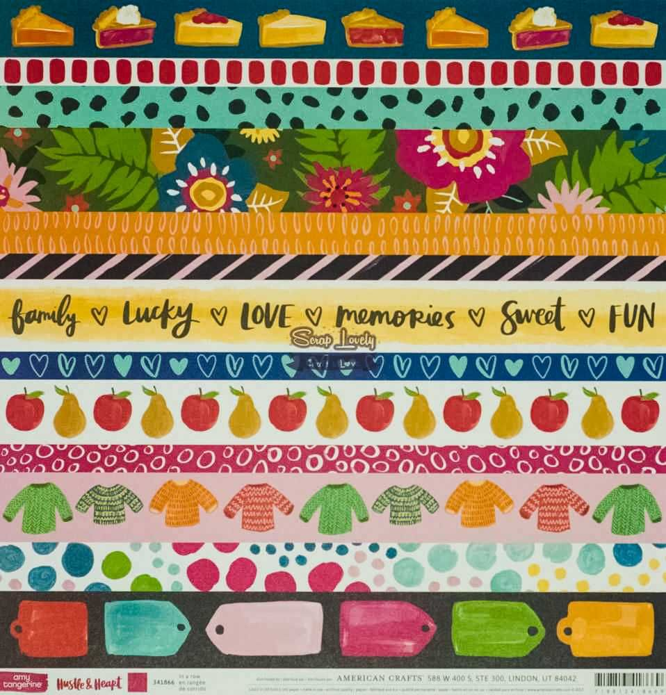 Papel Scrapbook Hustle & Heart In a Row - American Crafts