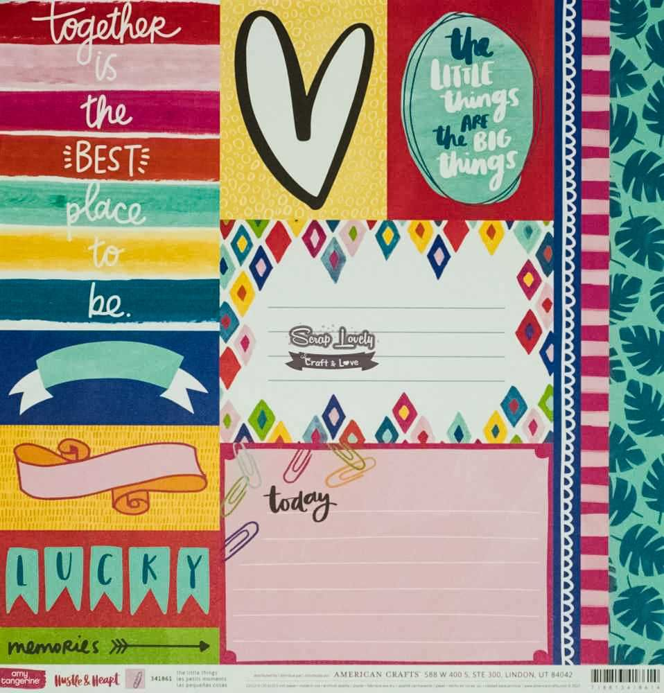 Papel Scrapbook Hustle & Heart The Little Things - American Crafts