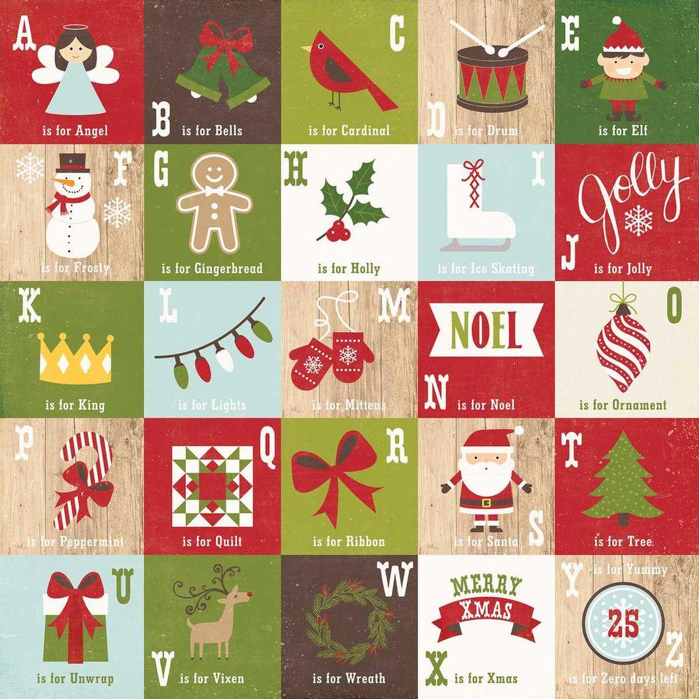 Papel Scrapbook I Love Christmas December Magic - Echo Park