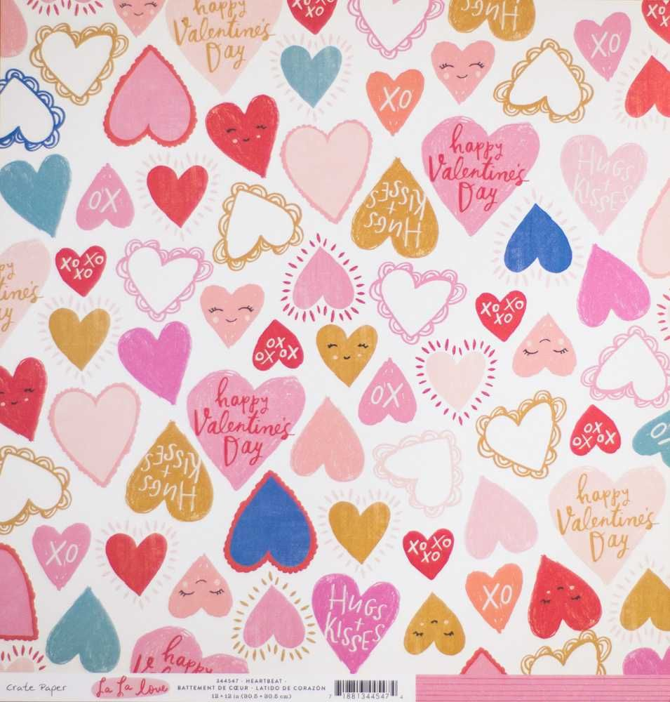 Papel Scrapbook La La Love Heartbeat - Crate Paper