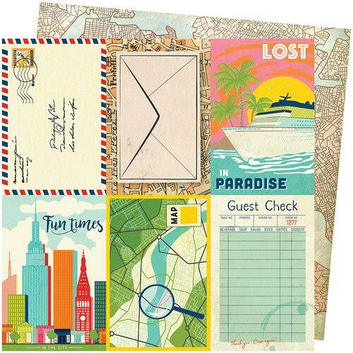 Papel Scrapbook Let's Wander Lost In Paradise - American Crafts