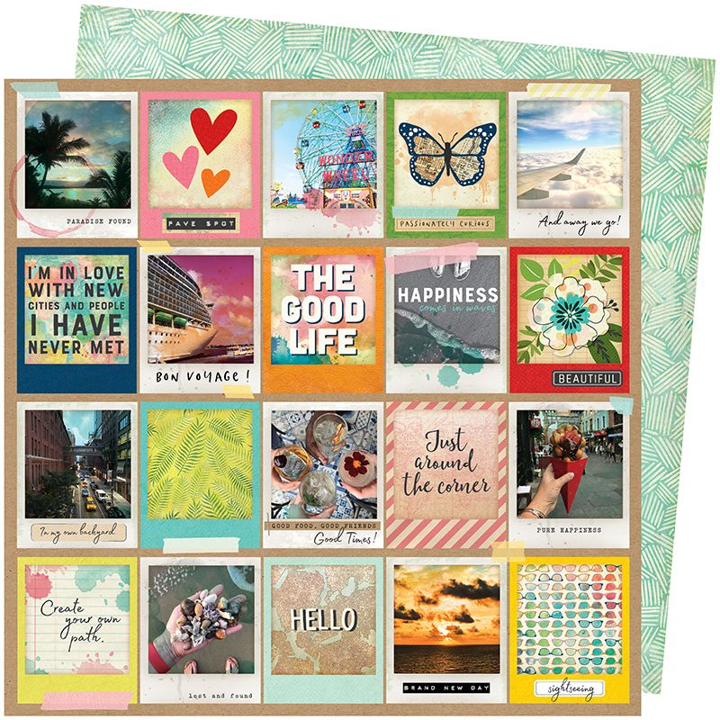 Papel Scrapbook Let's Wander Picture Perfect - American Crafts
