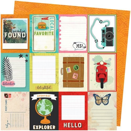 Papel Scrapbook Let's Wander Wish You Were Here - American Crafts