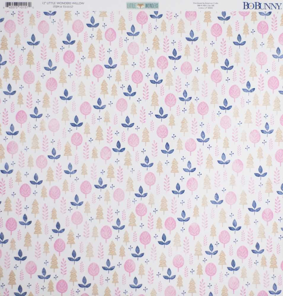 Papel Scrapbook Little Wonders Willow - Bo Bunny