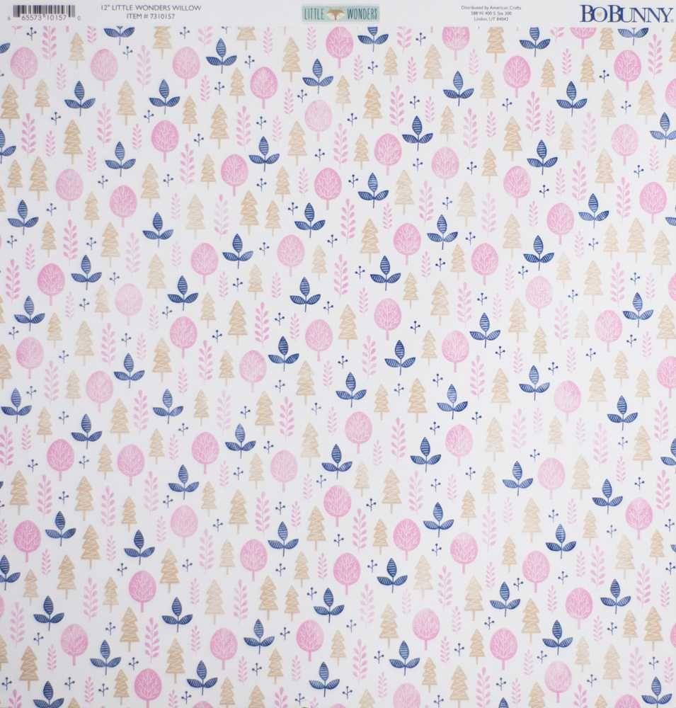Papel Scrapbook Little Wonders Willow - Bo Bunny