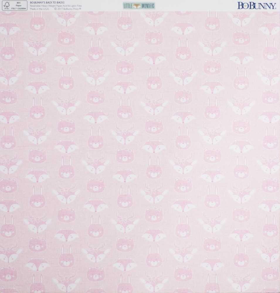 Papel Scrapbook Little Wonders Zoey - Bo Bunny