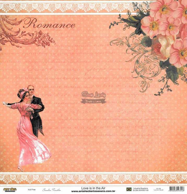 Papel Scrapbook Love is in The Air - Arte Fácil