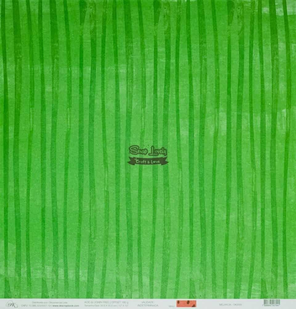Papel Scrapbook Melancia - OK Scrapbook