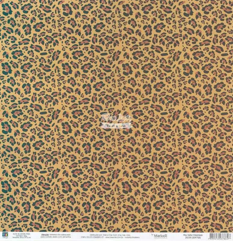 Papel Scrapbook Meu Safari Estampas - Toke e Crie