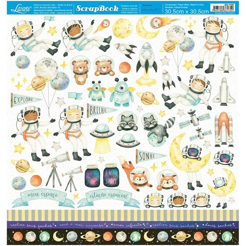 Papel Scrapbook Meu Universo SD-1195 - Litoarte