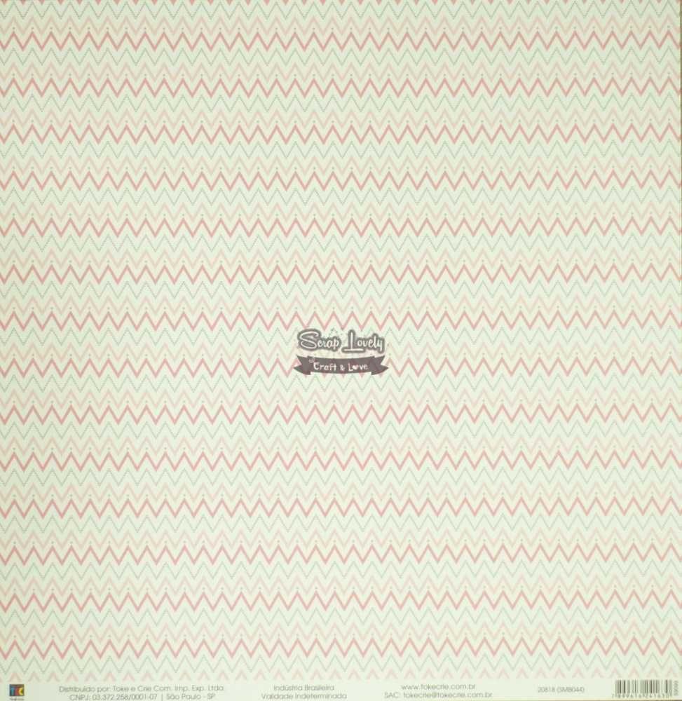 Papel Scrapbook Mini Básico Bebê Menina Elefantinhos - Toke e Crie