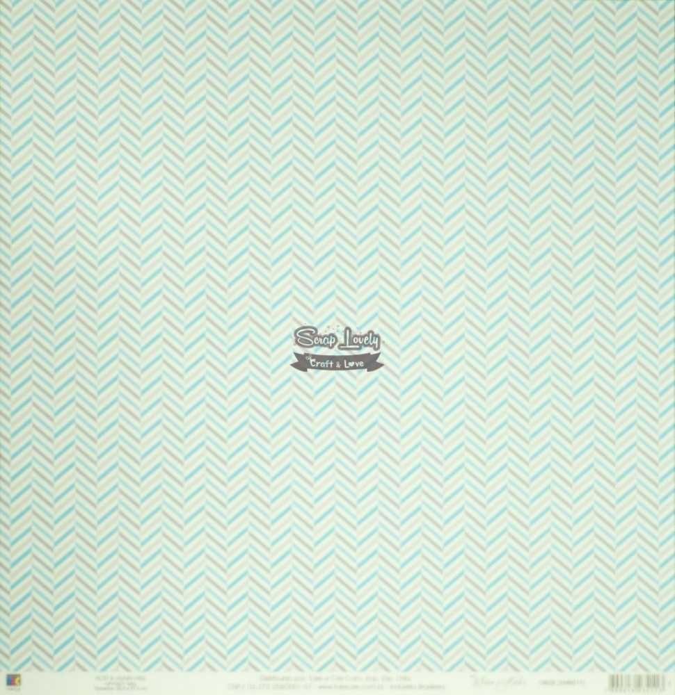 Papel Scrapbook Mini Básico Bebê Menino Balões - Toke e Crie