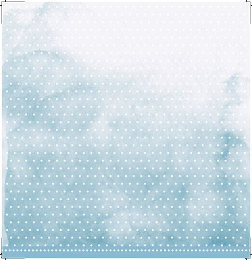 Papel Scrapbook My Basics Aquarela Azul MMCMB-05 - My Memories Crafts