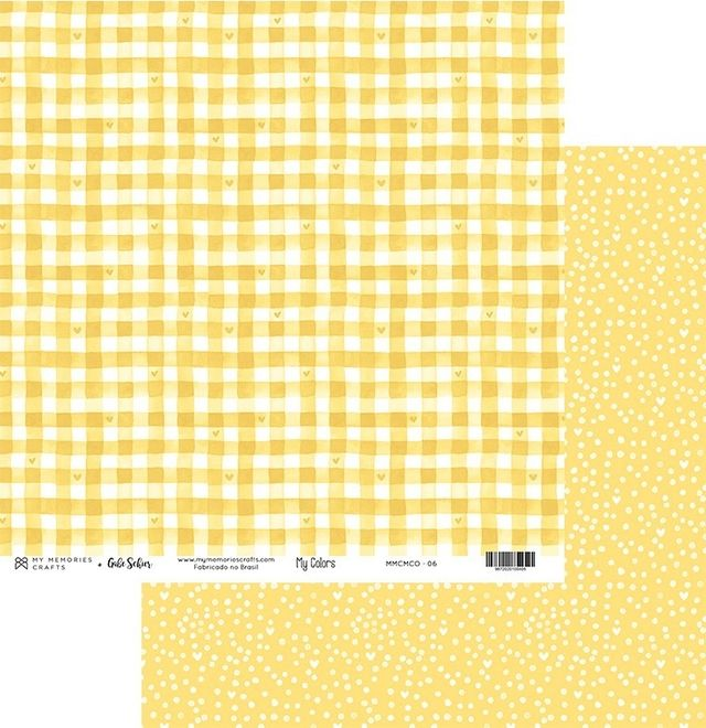 Papel Scrapbook My Colors Amarelo MMCMCO-06 - My Memories Crafts