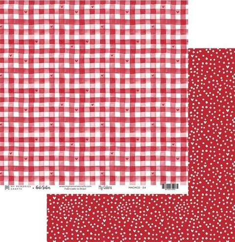 Papel Scrapbook My Colors Vermelho MMCMCO-04 - My Memories Crafts
