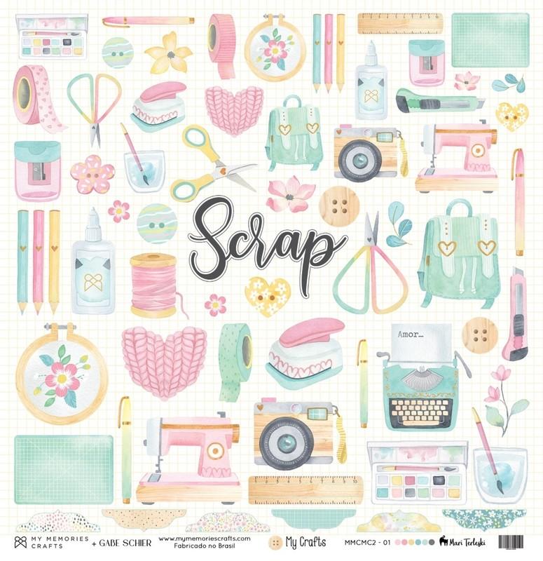 Papel Scrapbook My Crafts MMCMC2-1 - My Memories Crafts
