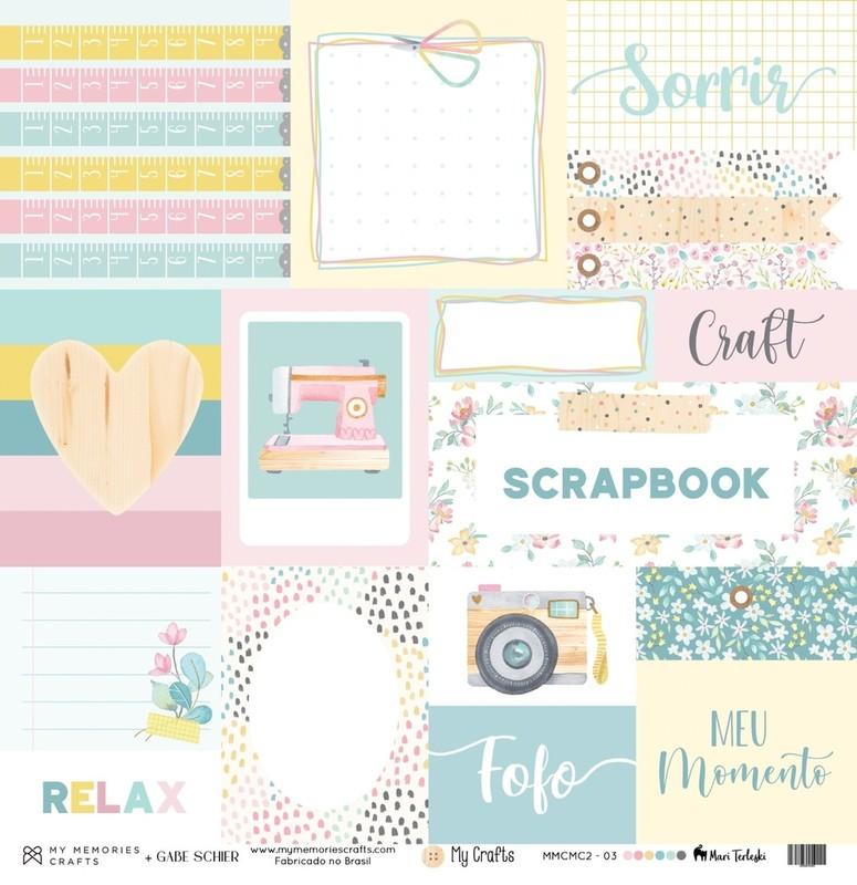 Papel Scrapbook My Crafts MMCMC2-3 - My Memories Crafts