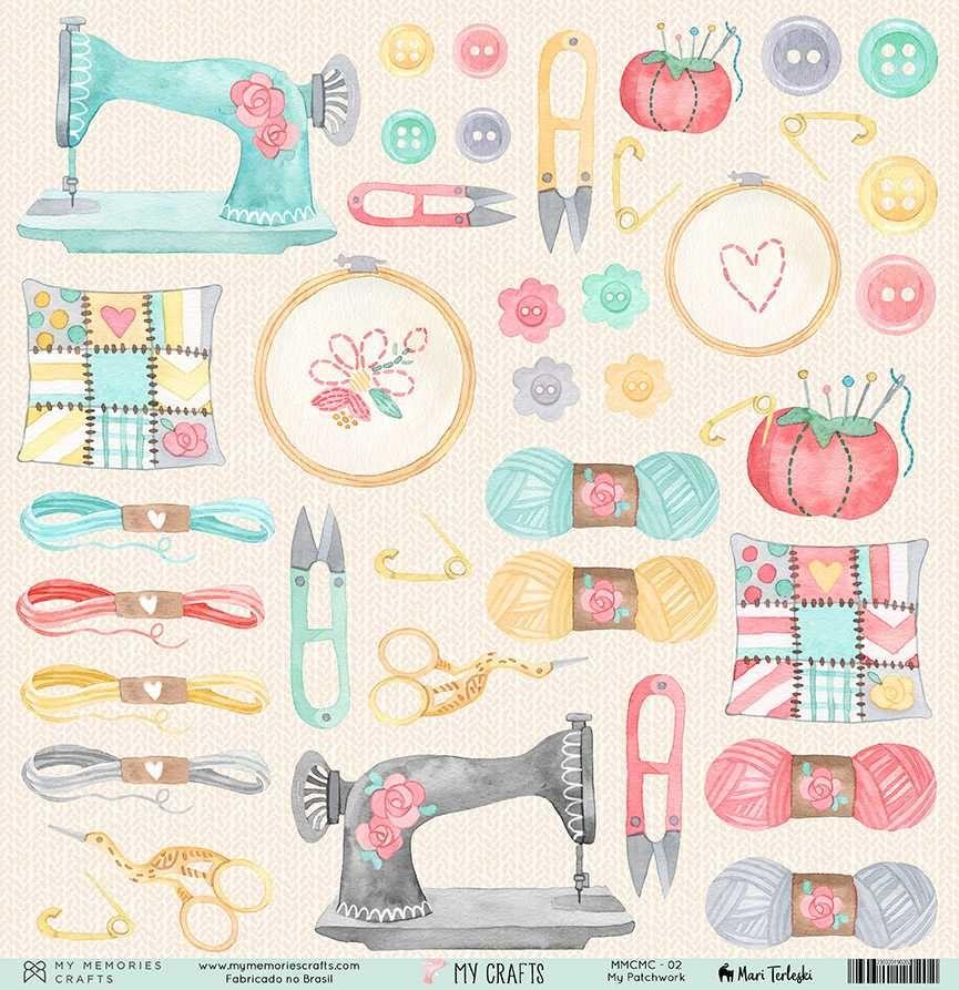 Papel Scrapbook My Crafts My Patchwork MMCMC-02 - My Memories Crafts