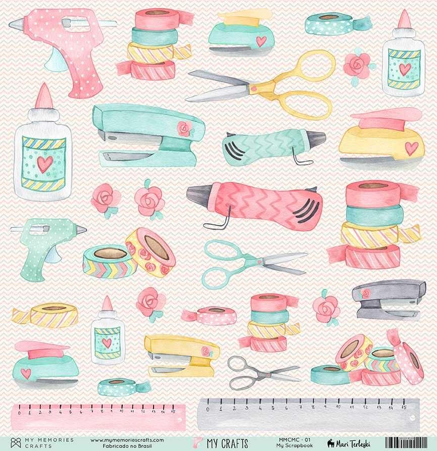 Papel Scrapbook My Crafts My Scrapbook MMCMC-01 - My Memories Crafts