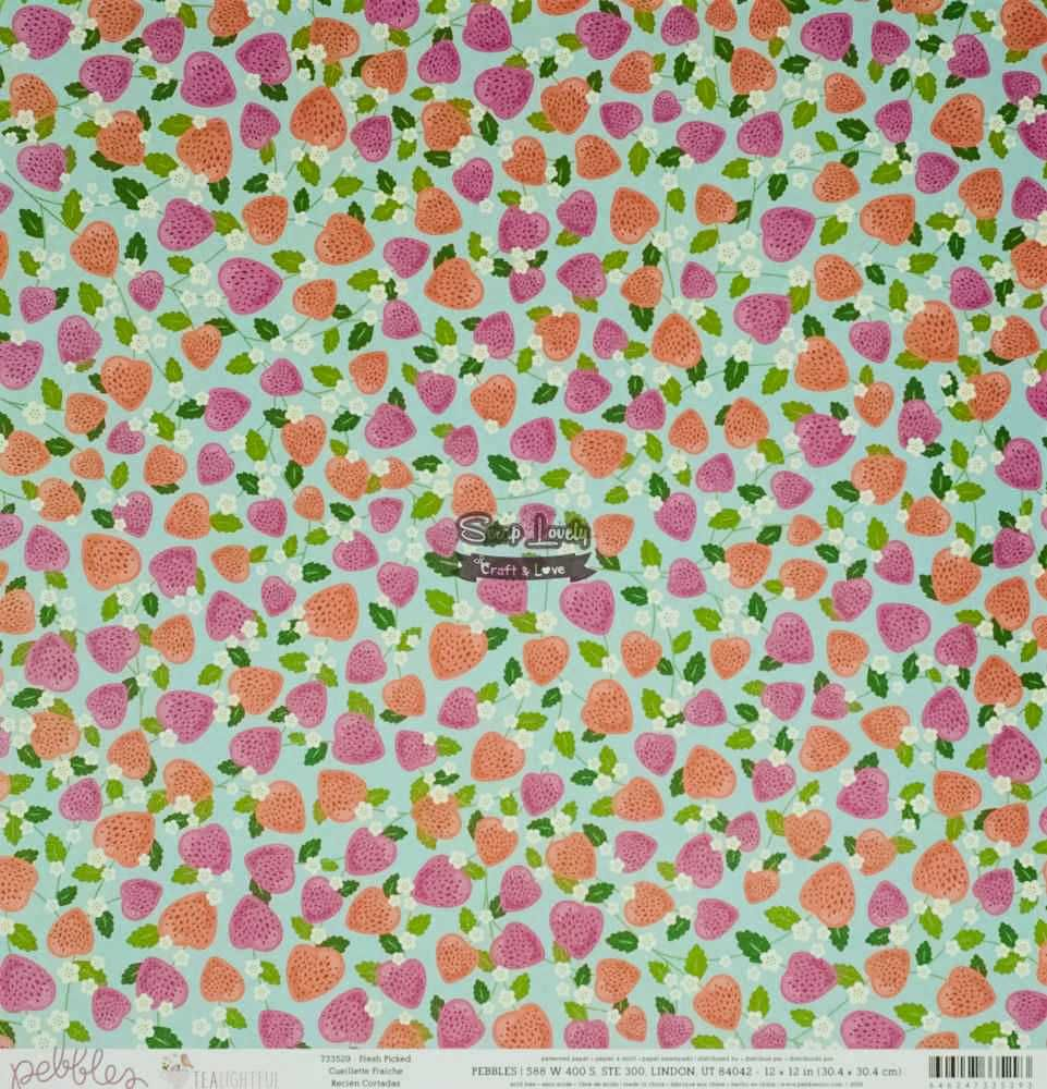 Papel Scrapbook My Funny Valentine Pretty In Pink - Pebbles