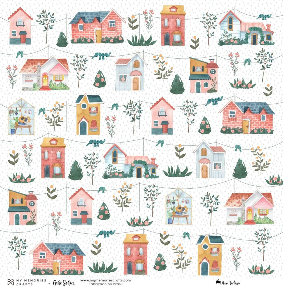 Papel Scrapbook My Home My House MMCMHO-03 - My Memories Crafts