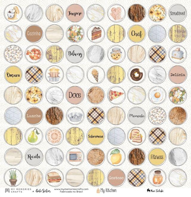 Papel Scrapbook My Kitchen My Sweet MMCMK-04 - My Memories Crafts